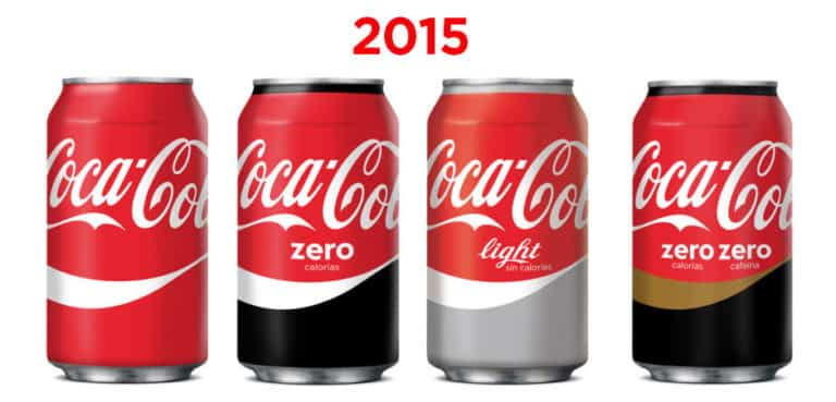 Diseño de las latas de Coca-cola en 2015