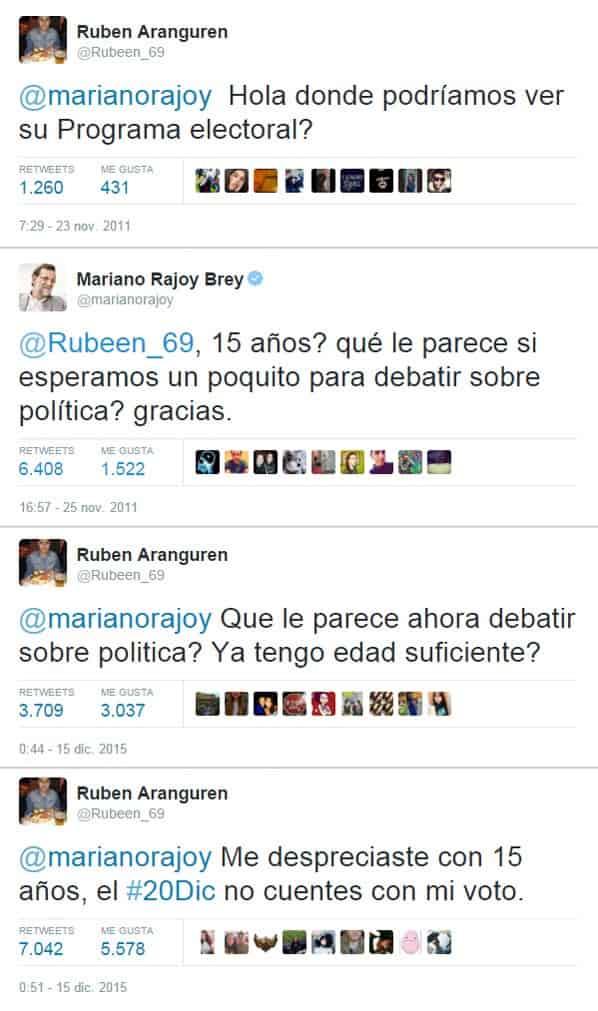 Mal gesto de Mariano Rajoy a un adolescente en redes sociales