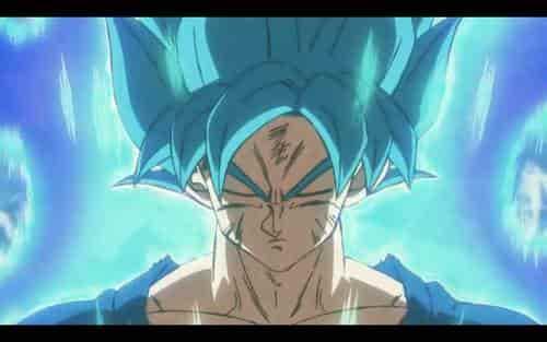 Termina la transformación de Goku