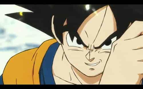 Sonrisa de Goku antes de enfrentarse a Broly