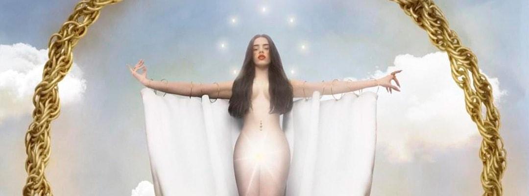 Rosalía como una virgen en la imagen de El mal querer