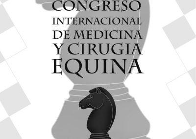 Cartelería y papelería del Congreso Internacional de Medicina y Cirugía Equina