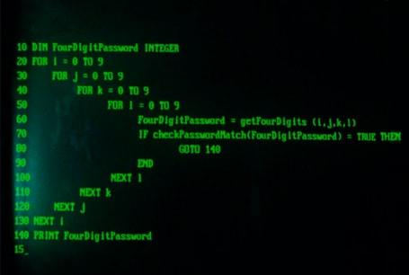Código de programación en Basic que aparece en Stranger Things