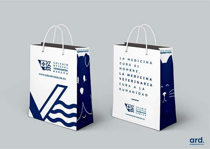 Diseño de bolsa de papel ICOV Huelva