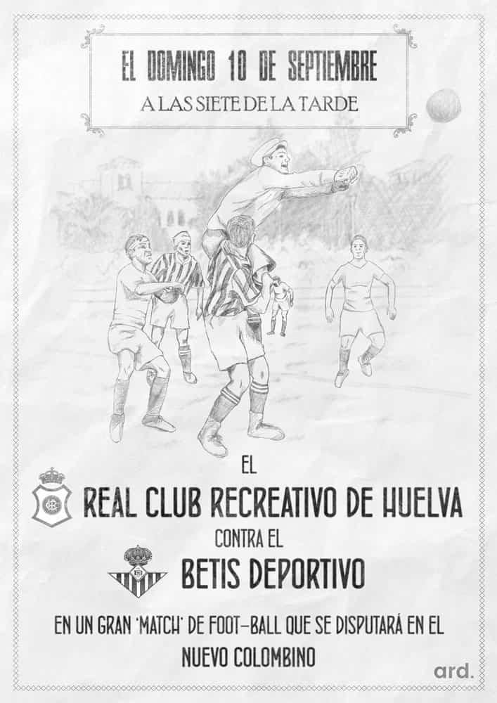 Cartel clásico Recreativo de Huelva Betis B