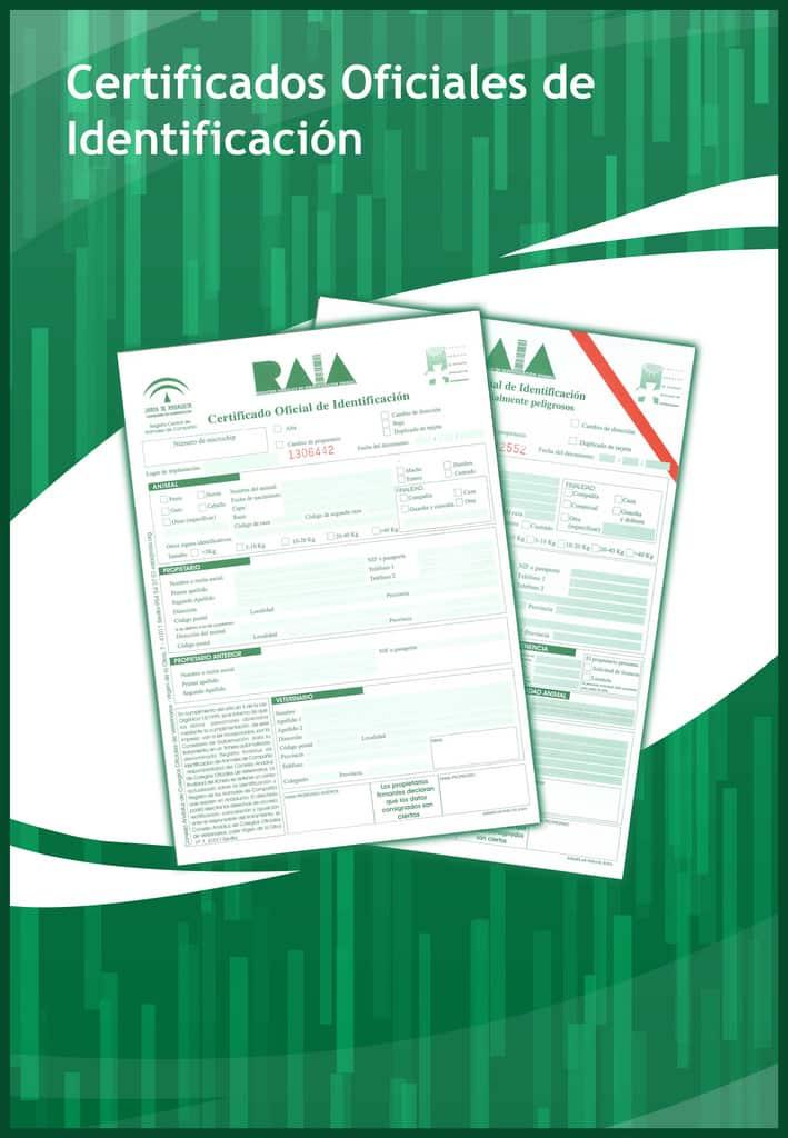 Cartel con los documentos oficiales del Consejo Andaluz de Veterinarios