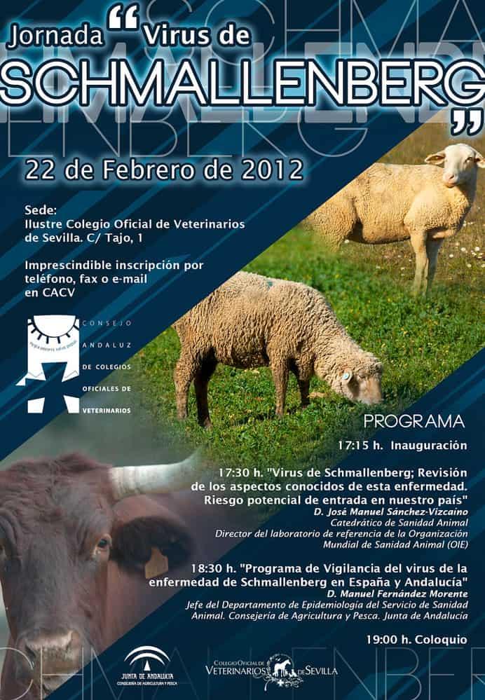 Cartel de la jornada celebrada por el Ilustre Colegio Oficial de Veterinarios de Sevilla