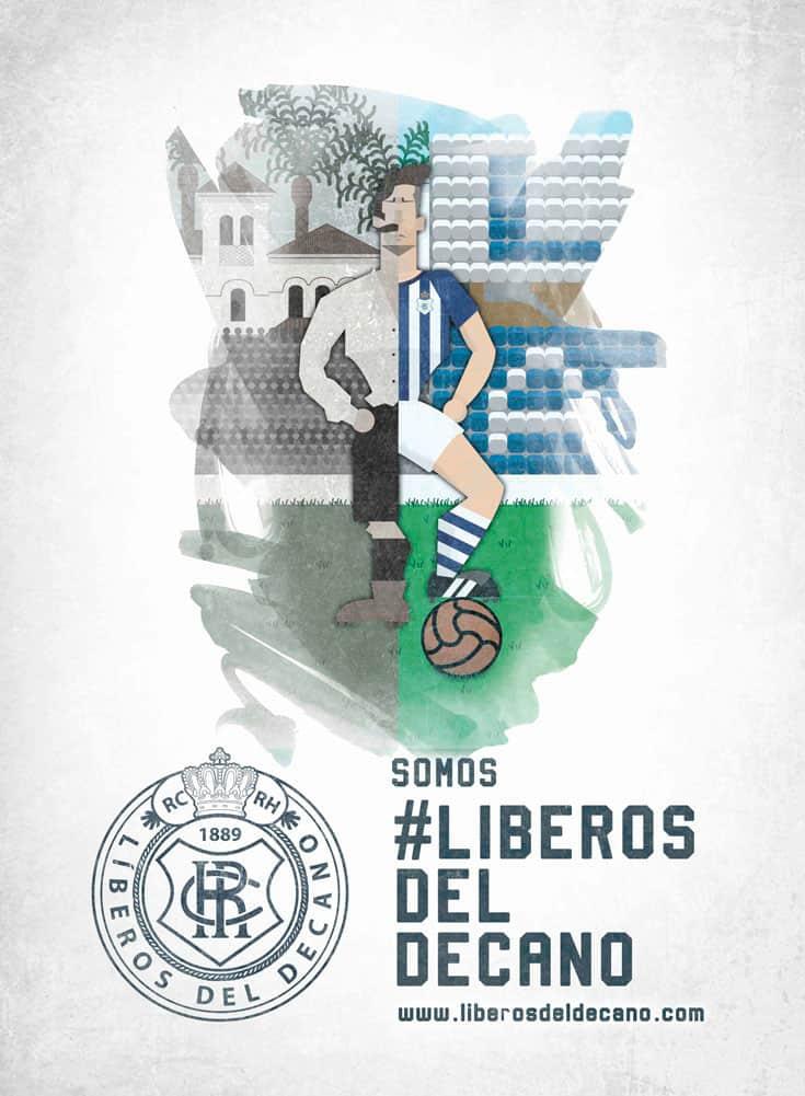 Cartel de la campaña de salvación del Recreativo de Huelva