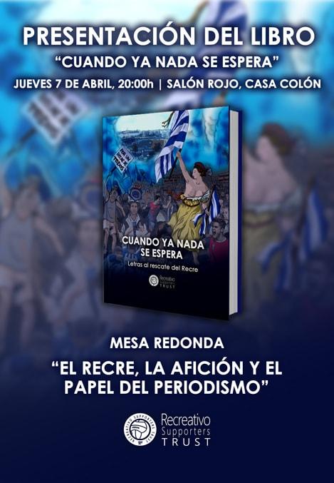 Cartel anunciador de la presentación del libro del Trust de aficionados recreativistas Huelva