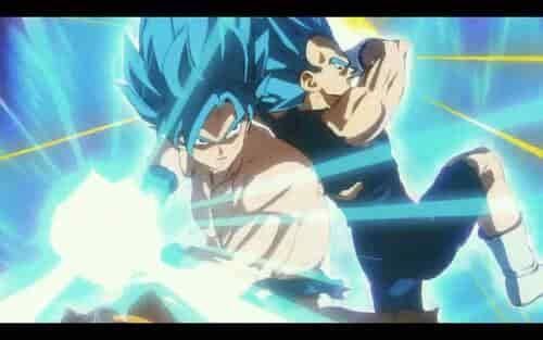 Ataque conjunto de dos Super Saiyan Blue