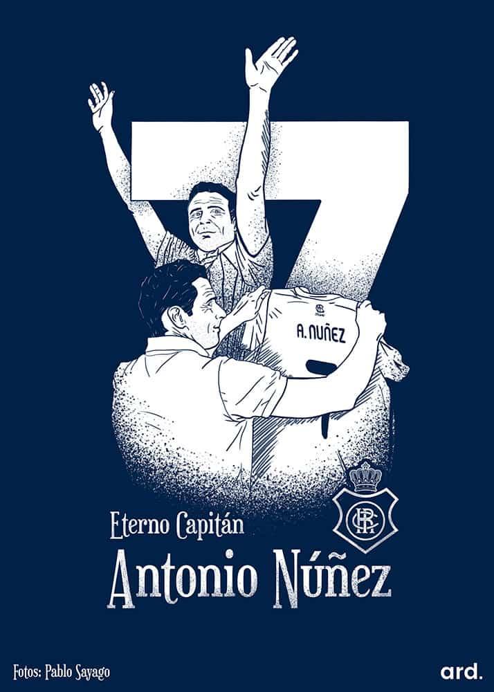 Dibujo para homenajear a una leyenda del Recreativo de Huelva como es el ex del Liverpool