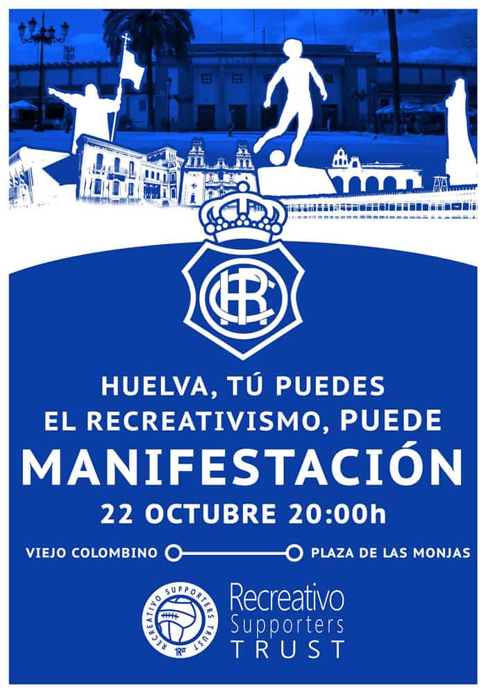 Manifestación por la salvación del Recreativo de Huelva