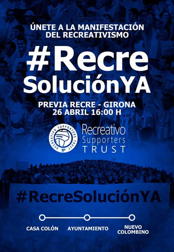 Manifestación para exigir soluciones para el Recreativo de Huelva