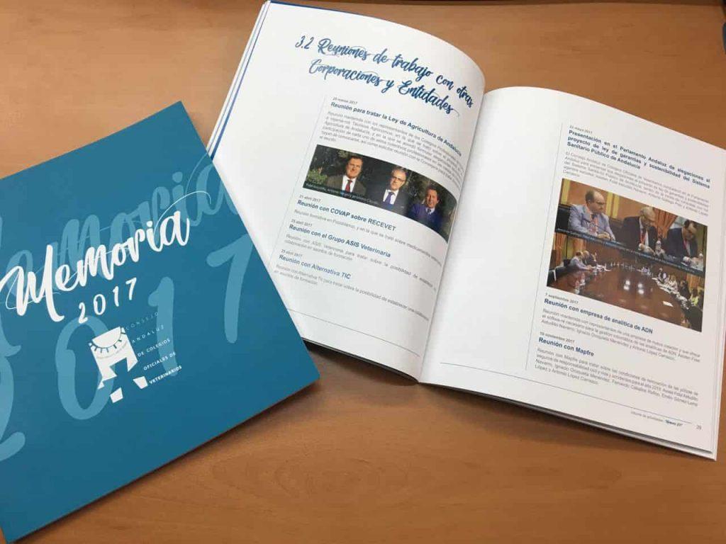 Detalle de la memoria anual del Consejo Andaluz de Veterinarios