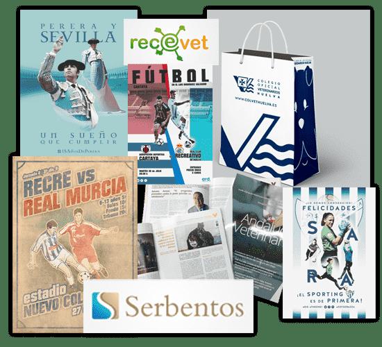 Papelería, maquetación editorial, cartelería, merchandising e imagen corporativa, todo tipo de trabajos de diseño en Huelva
