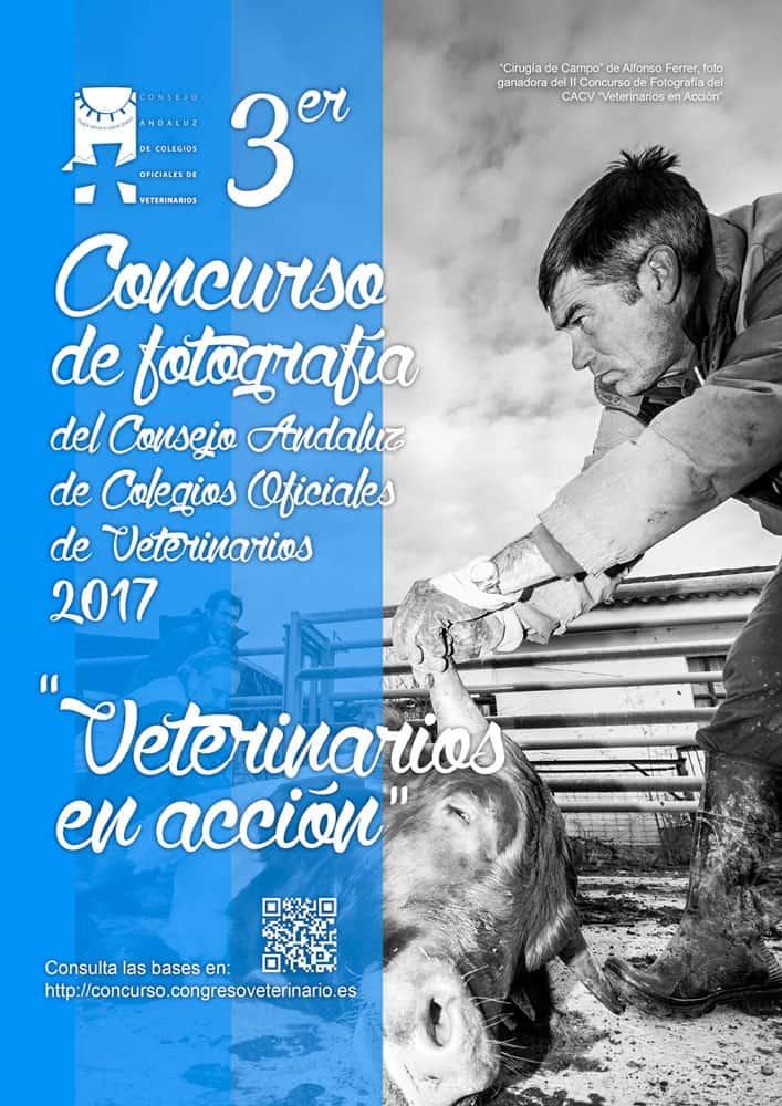 Cartel concurso fotrográfico Veterinarios en acción