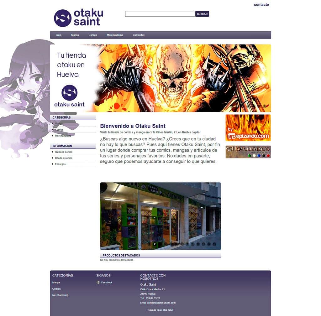 Diseño web Otaku Saint