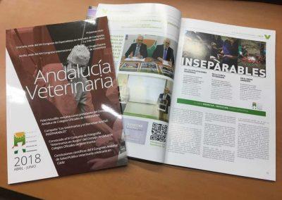 Maquetación editorial Revista Andalucía Veterinaria