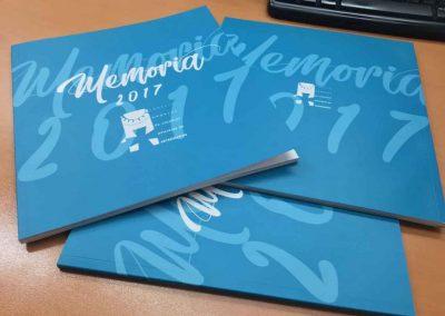 Maquetación editorial de la Memoria anual del CACV