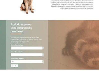 Web Registro Español de Identificación de Animales de Compañía